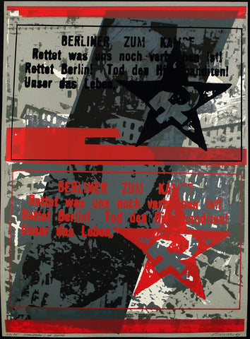 "Art from the GDR. ""Streuzettel zu Epilog"", 1984. Silkscreen by Wolfgang PETROVSKY"