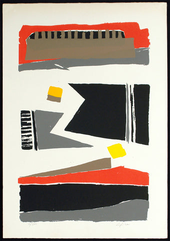 Untitled, around 1976. Lithograph by Lino PIRONE