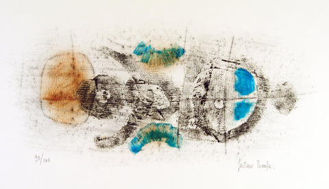 Untitled, around 1960. Lithograph (re-worked) by Gaetano POMPA