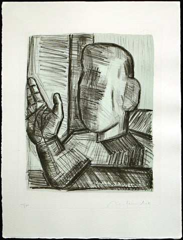 "Art from the GDR. ""Das Leben ist Traum"", 1989. Lithograph by Nuria QUEVEDO"