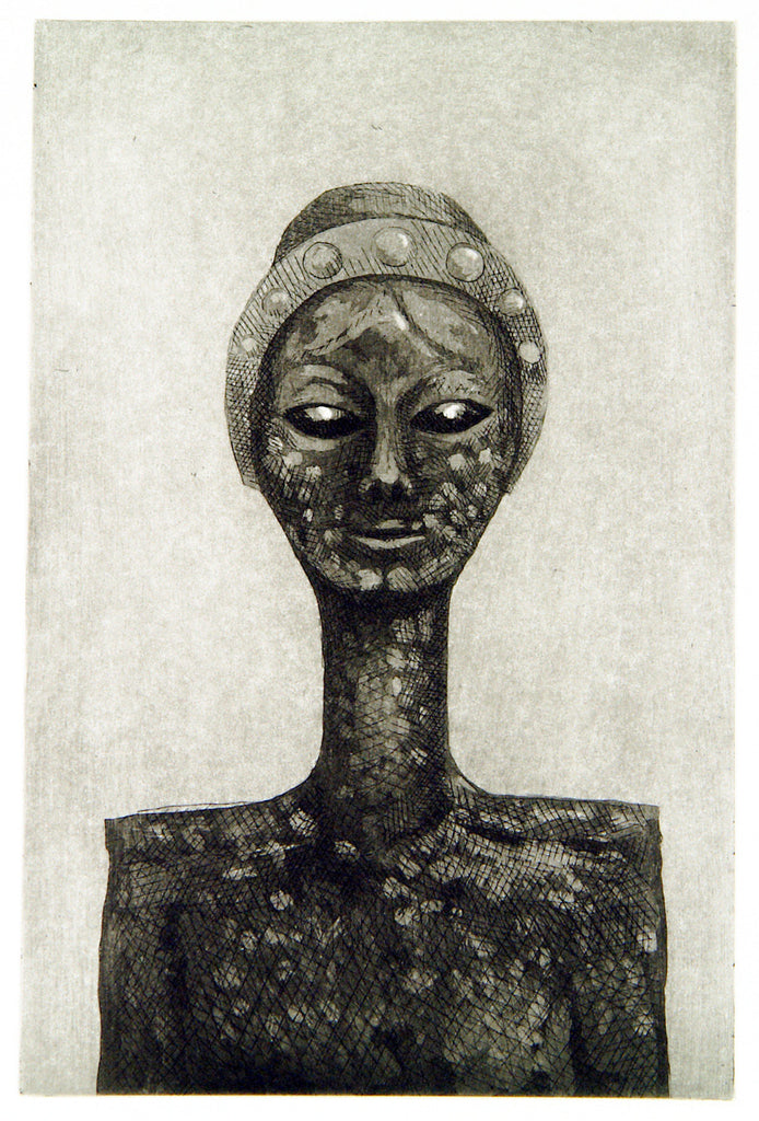 """La cabeza femenina"" (Alien), 2010. Etching by Robert LLIMOS"