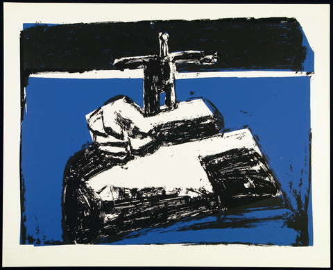 "Art in the GDR. ""O.T."", 1989. Serigraph by Sangare SIEMSEN"