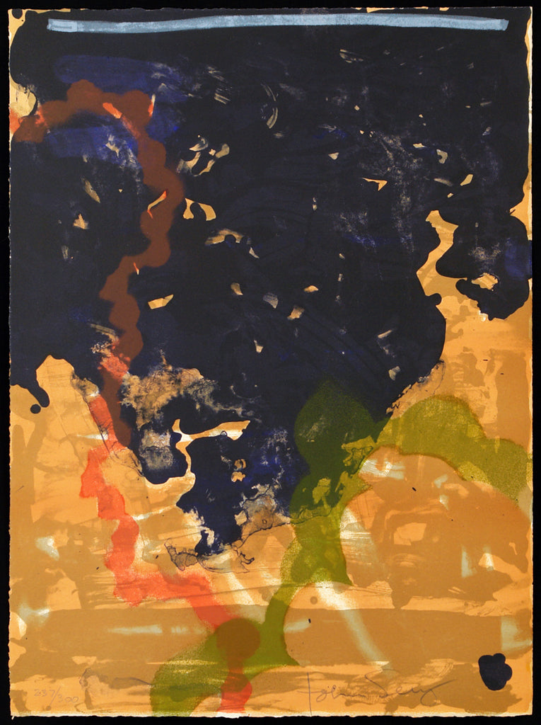 Informel/Lyrical Abstraction. Untitled, 1971. Lithograph by John SEERY