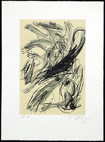 Informel. Untitled, 1990. Aquatint by Walter STÖHRER