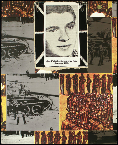 "Political Art. ""Jan Palach: Suicide by fire, January 1969"", 1969. Multiple by Joe TILSON"