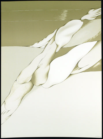 """Virtual Grey and White"", 1980. Lithograph by Mario TORAL"