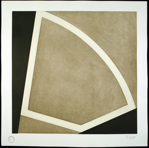 "Minimal Art. ""Form and Rhythm #5"", 2015. Aquatint by David TREMLETT"