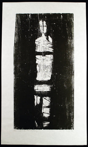 "Expressionism. ""Ohnmacht"", 1973. Woodcut by Willi DIRX"