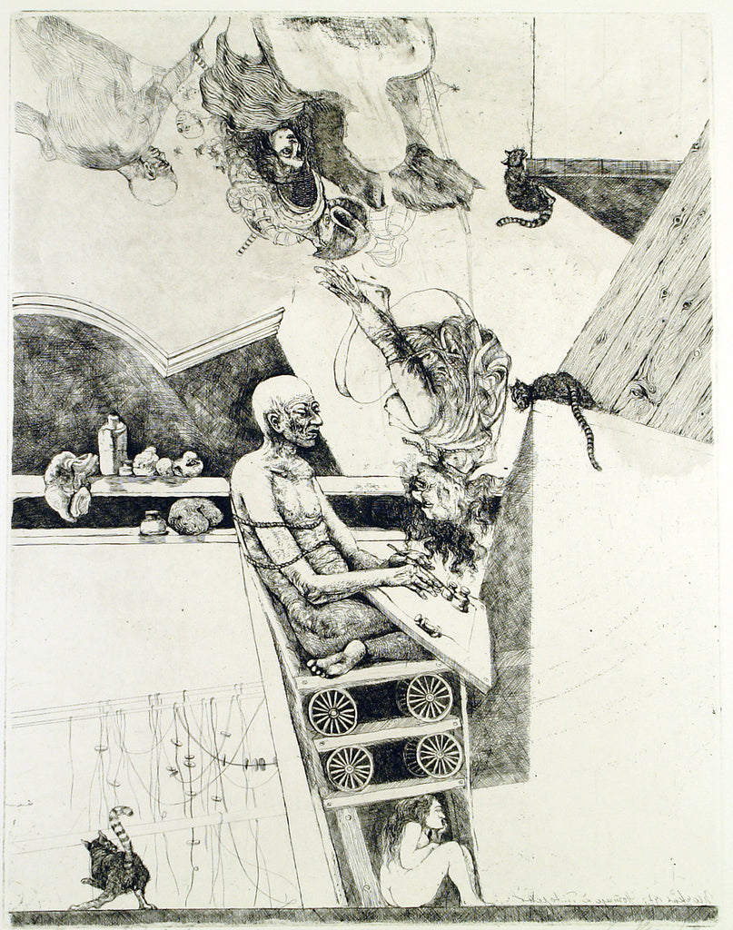 """Der Traum"", 1973. Etching by Markus VALLAZZA buy"