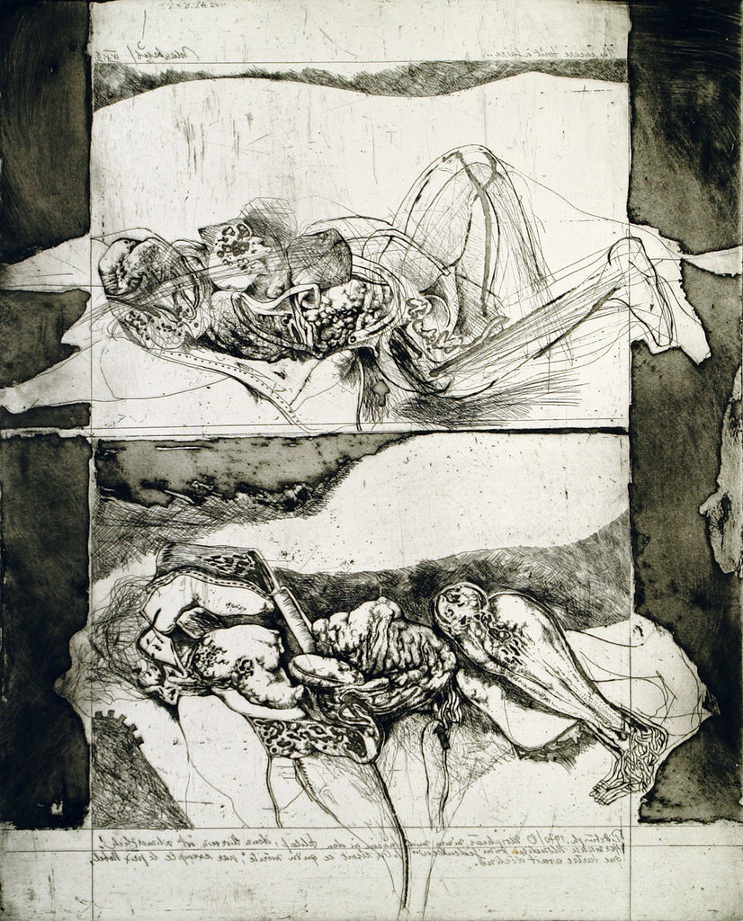"""O Morpheus nimm mich hinein in den Schlaf"", 1971. Aquatint by Markus VALLAZZA buy"