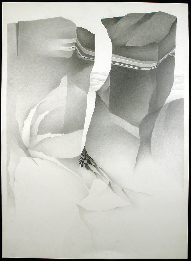 Art from the GDR. Untitled, 1983. Pencil drawing by Dieter BOCK VON LENNEP