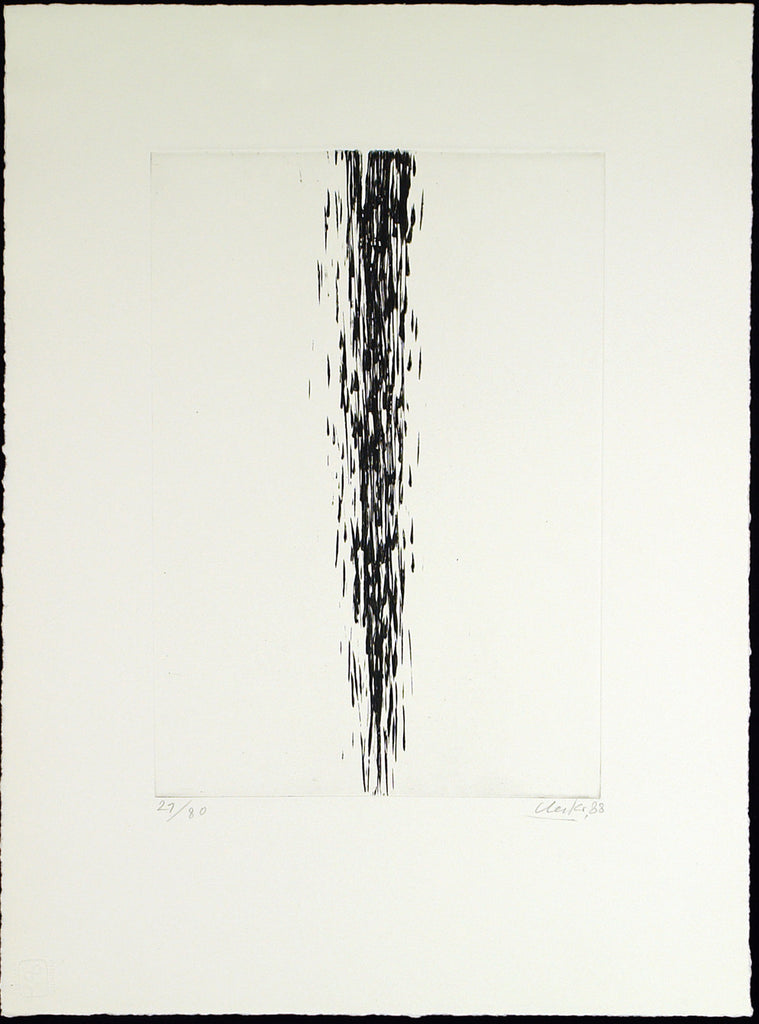 Untitled, 1988. Etching and embossing print by Günther UECKER