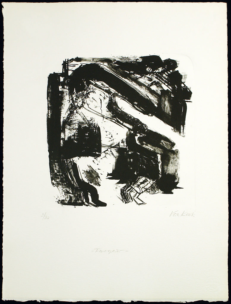 "Art from the GDR. ""Feuerspeier"", around 1986. Lithograph by Vera KOZIK kaufen"