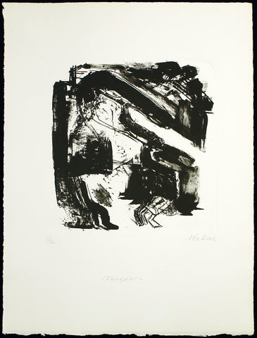 "Art from the GDR. ""Feuerspeier"", around 1986. Lithograph by Vera KOZIK"