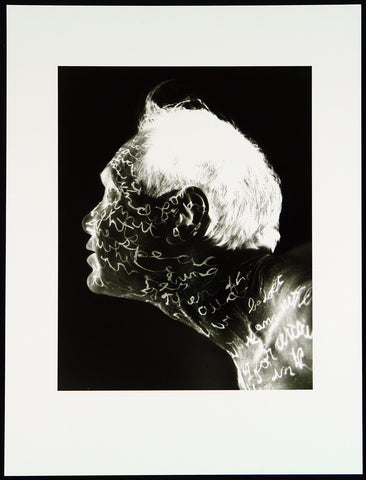 """Autobodiography (Profil)"", 1994. Photograph by William ANASTASI"