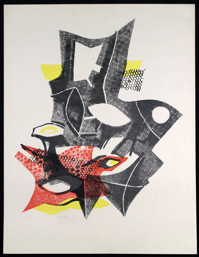 Untitled, 1954. Lithograph by Conrad WESTPFAHL