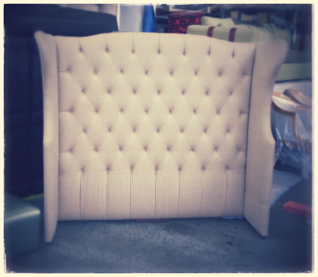 Headboard with Diamond Button Tufting