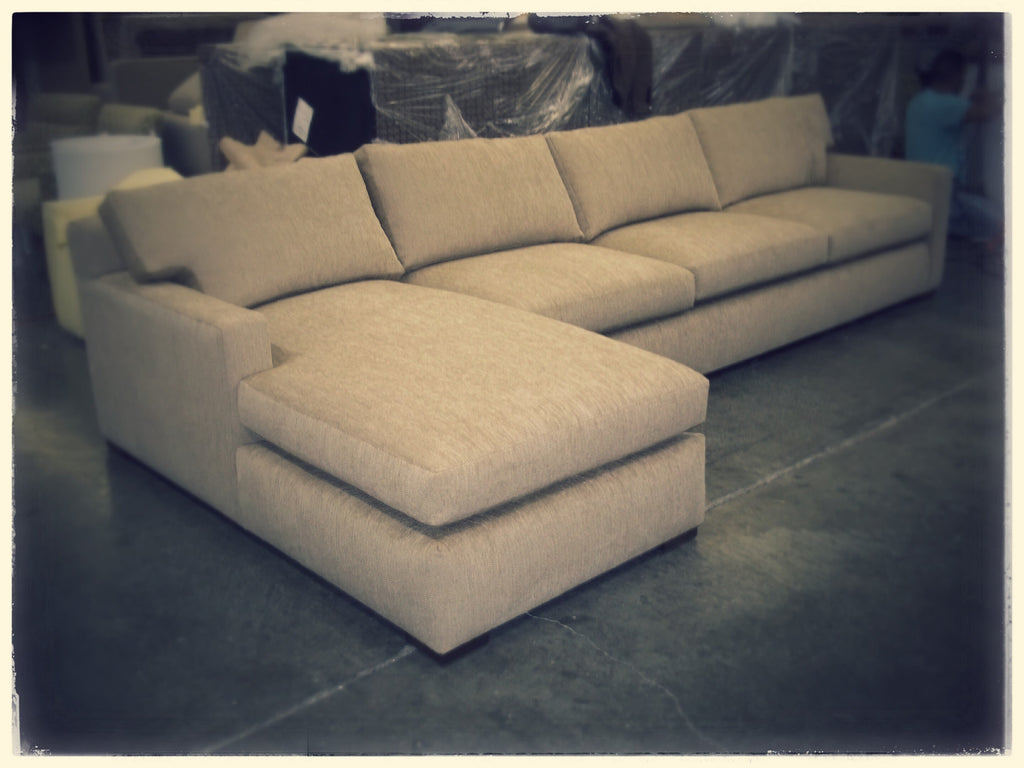 Two Piece Chaise Sectional Cypress Furniture Inc