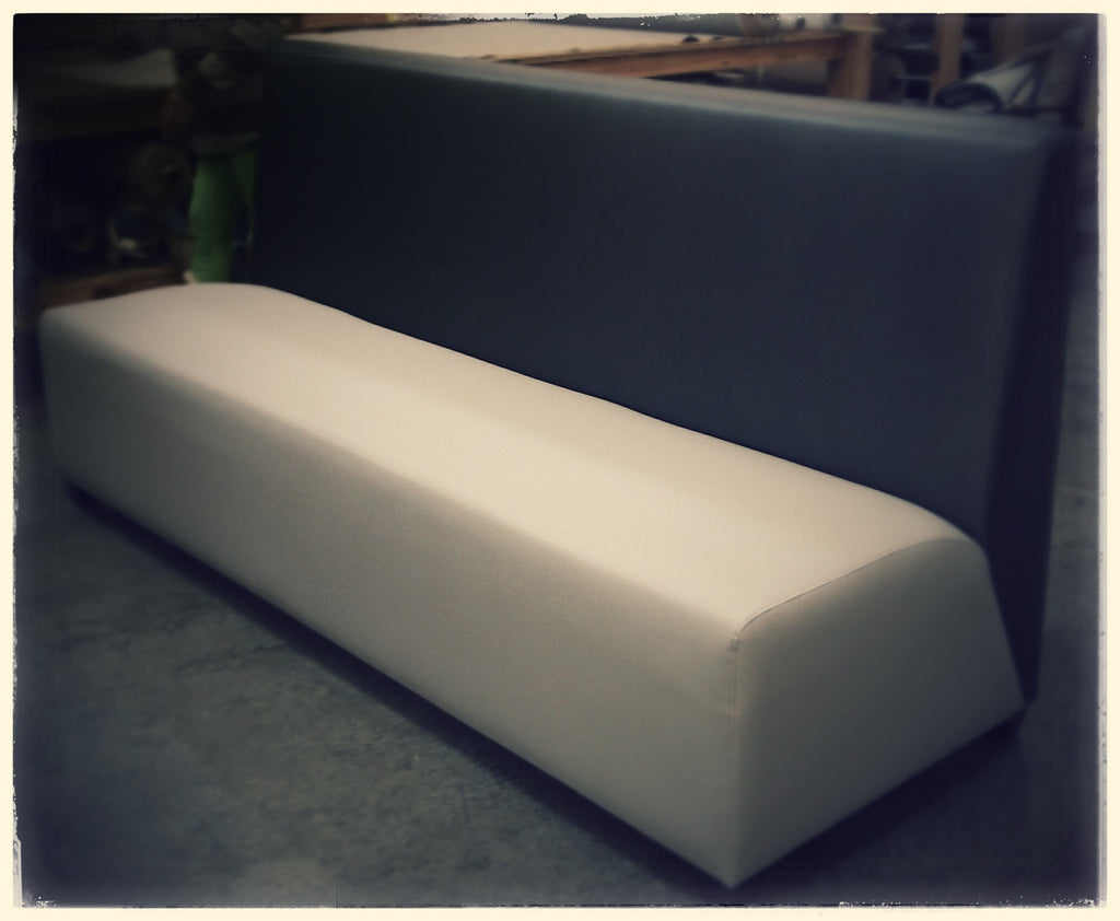 Custom Black & White Settee