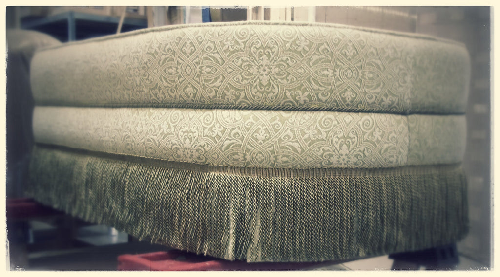 Ottoman With Bullion Fringe