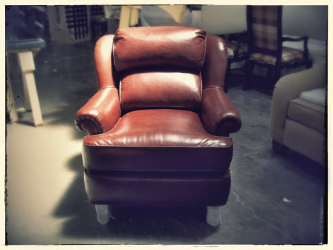Residential Red Leather Chair