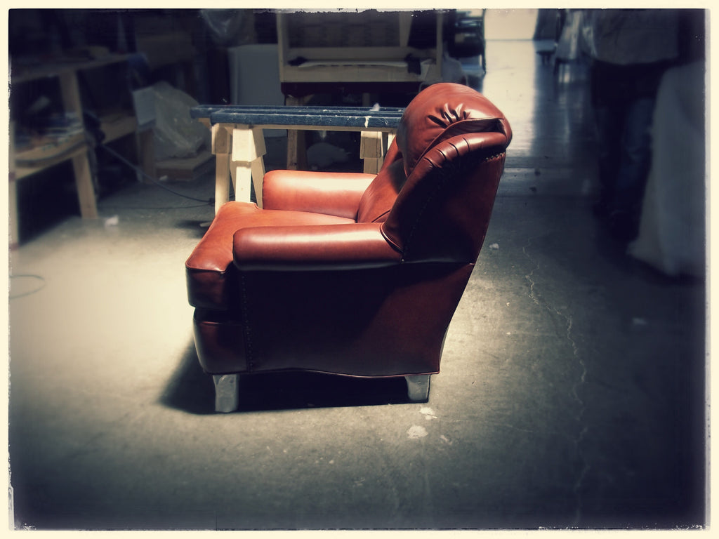 Residential Red Leather Chair - 2