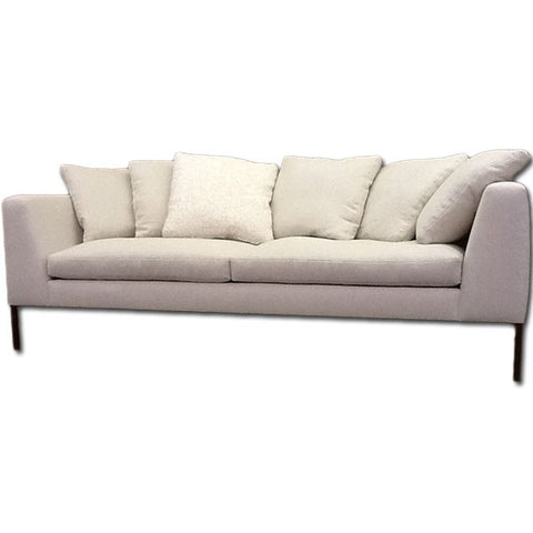 Raised Cream Sofa