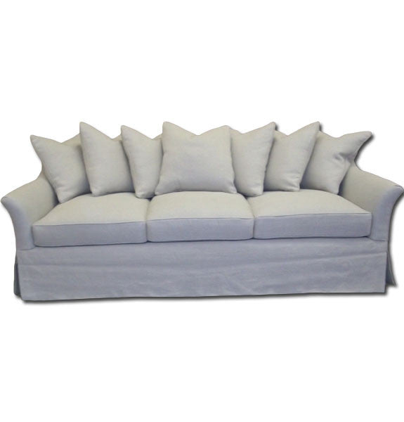 Multi Pillow Linen Sofa
