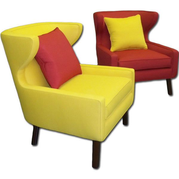 Yellow and Red Chairs