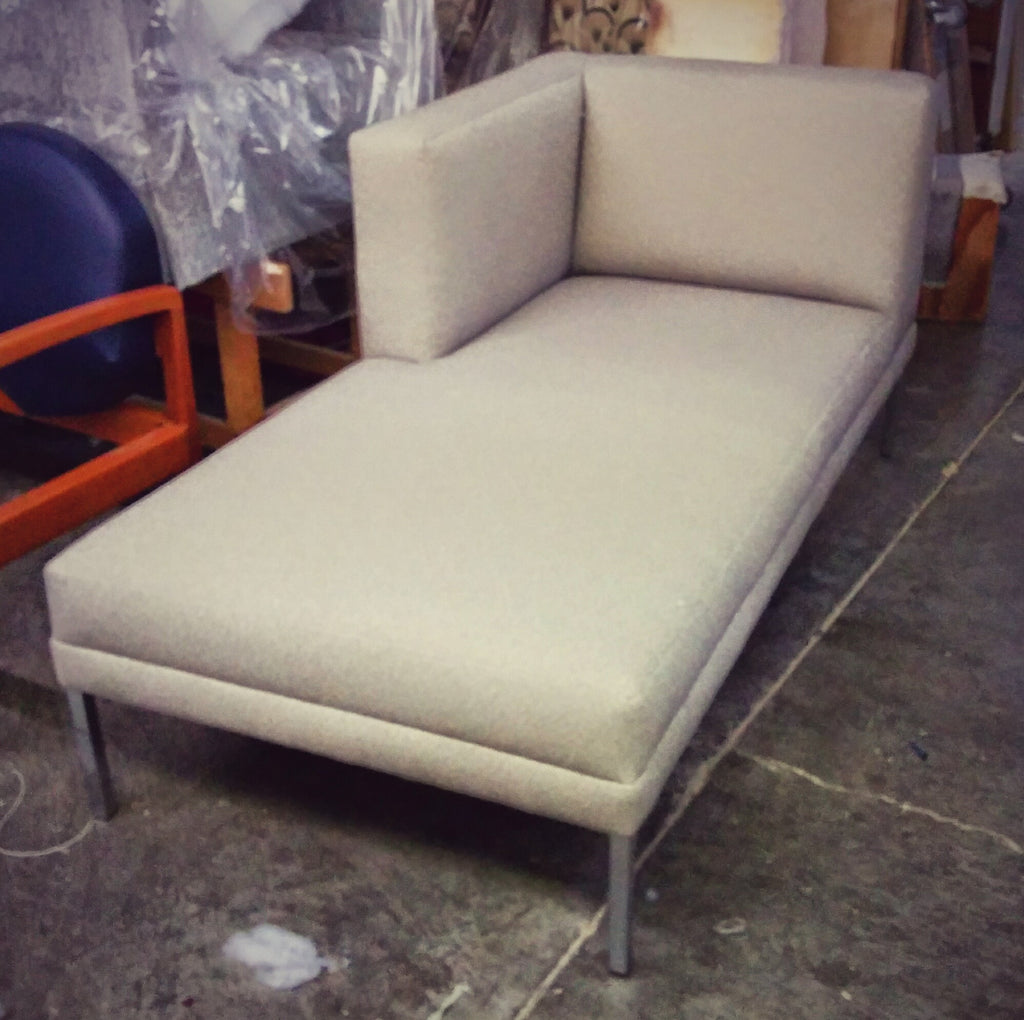 Light Gray Commercial Sectional Chaise Lounge Unit