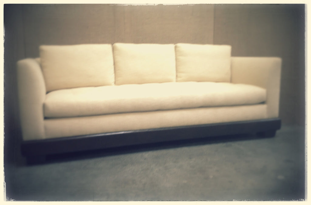 Three Seat Beige Sofa