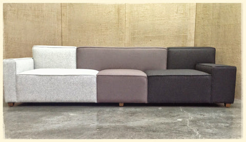 Multi Colored Sectional
