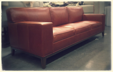 Red 3 Seat Sofa