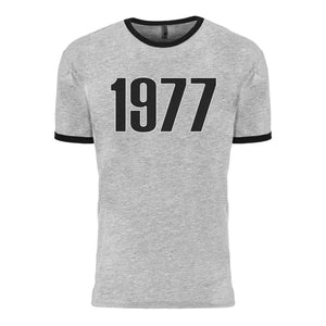 Retro Ash 1977 T-Shirt - Grey/Black | ASH Official Store