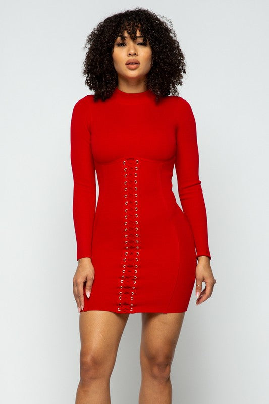 Sexy Body Shaping Long Sleeve Dress