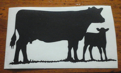 Decal 20a/Vinyl - (L) Cow/Calf - 5x3