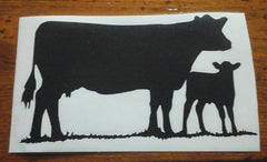 Decal 18a/Vinyl - (S) Cow/Calf - 3 3/4 x 2.5
