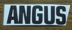 Decal 2a/Vinyl  - ANGUS  -4x1