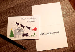 FROM  OUR HERD TO YOURS/ Christmas Note Cards set of 10 with Envelopes