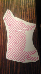 Decal 8b/Vinyl Pink Maze Pattern Heifer