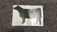 Decal 10a/Vinyl - (XXXL) Black Heifer - 12x 7 3/4