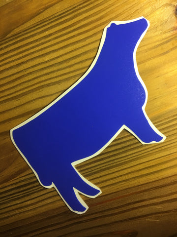 Decal 25b/Vinyl - Royal Blue Heifer