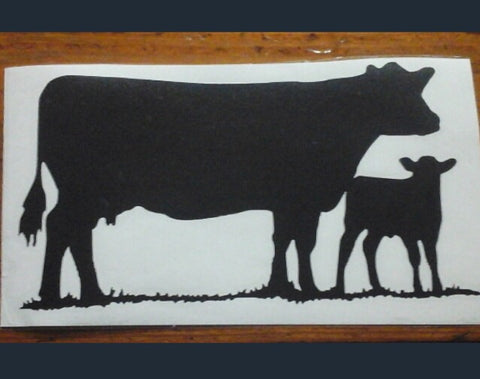 Decal 19a/Vinyl- (M) Cow/Calf- 4 3/4 x 3