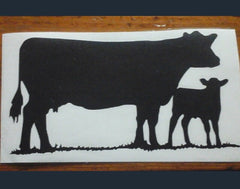 Decal/Vinyl- (M) Cow/Calf- 4 3/4 x 3