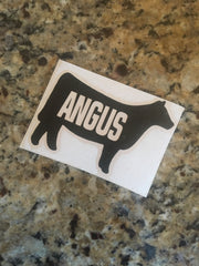 Decal 1a/Vinyl- Heifer with ANGUS word cutout