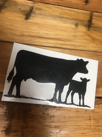 Decal 21a/Vinyl- Cow/Calf Pair (XL)