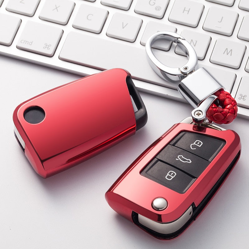 TPU Car Key Case Cover VW GOLF 7 MK7 SEAT SKODA
