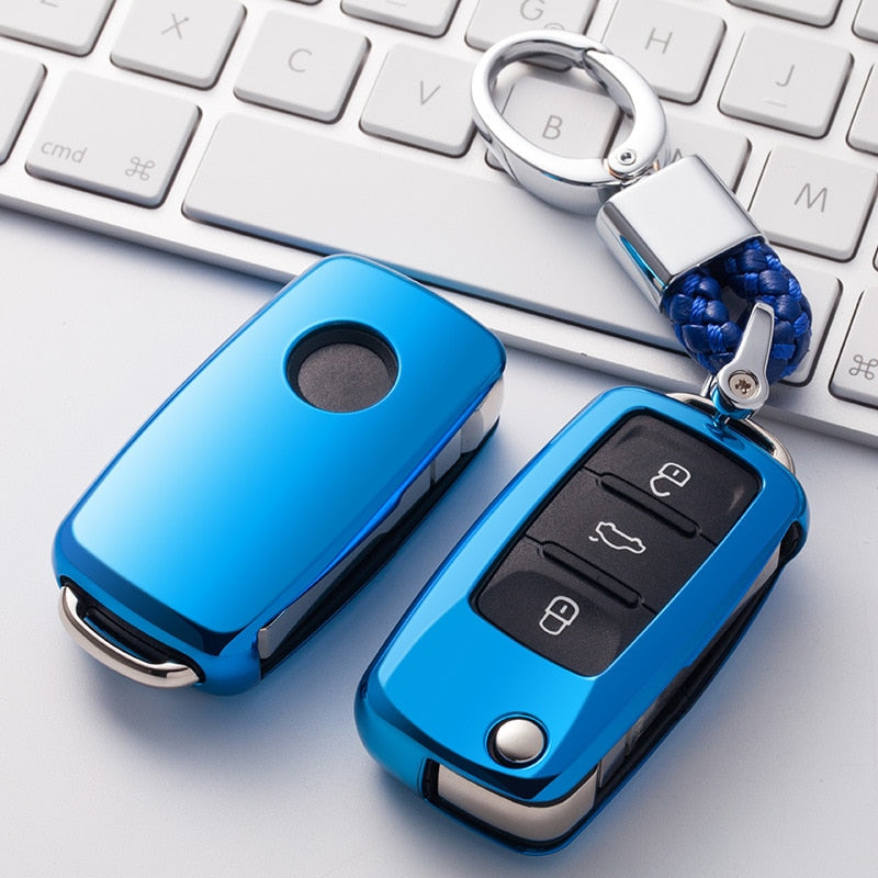 New Soft TPU Key Cover Case For VW Golf MK5 Bora Jetta POLO GOLF Passat Skoda Octavia Fabia SEAT Ibiza Leon