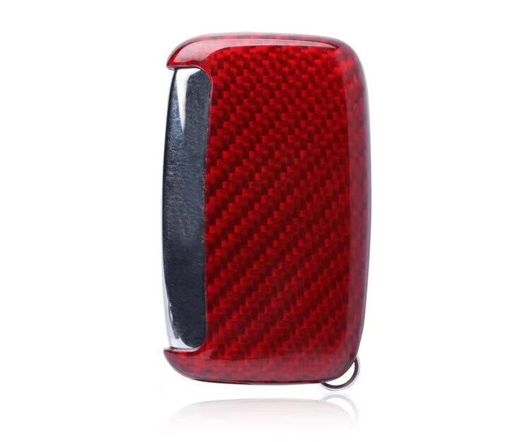 Red Carbon Fiber Key Case Cover for Jaguar XE XF XJ F-PACE F-TYPE