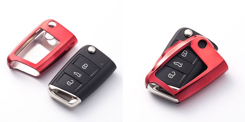 TPU Car Key Case Cover Holder Case For Volkswagen Golf 7 Seat Ibiza Leon FR 2 Altea Aztec Skoda Octavia